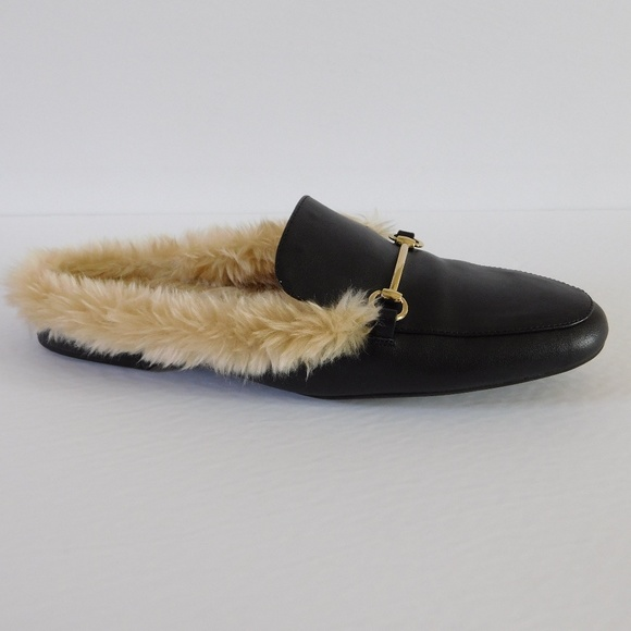 4a98b95047b A New Day Shoes - FAUX FUR MULES Slides - Rebe from A New Day